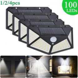 100 LED 270 ° Водоустойчива градинска соларна лампа на едро 7