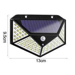 100 LED 270 ° Водоустойчива градинска соларна лампа 9