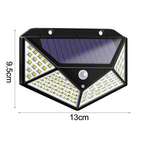 100 LED 270 ° Водоустойчива градинска соларна лампа 5