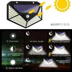 100 LED 270 ° Водоустойчива градинска соларна лампа 10