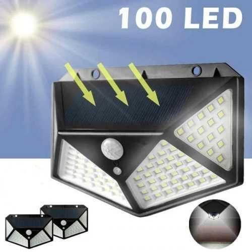 100 LED 270 ° Водоустойчива градинска соларна лампа на едро 2