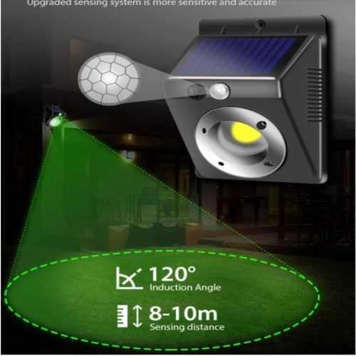 16 COB соларна лампа с датчик за движение на едро 3
