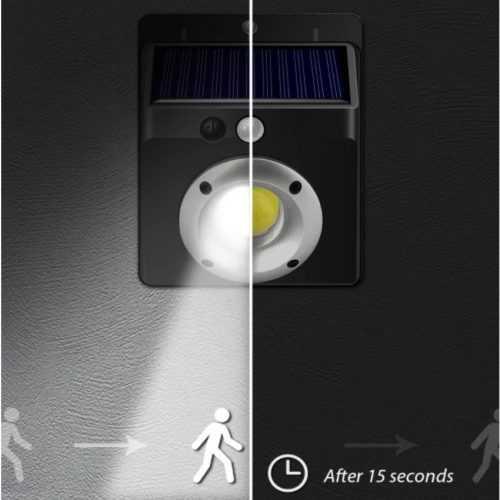 16 COB соларна лампа с датчик за движение на едро 6