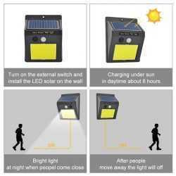 60 лед Соларна Лампа с Датчик за Движение 29