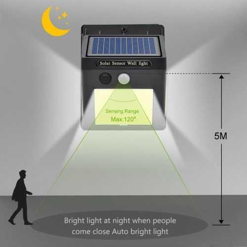 60 лед Соларна Лампа с Датчик за Движение 15