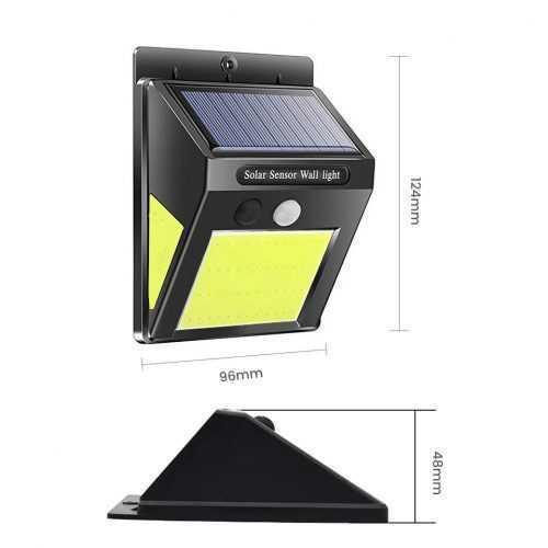 60 лед Соларна Лампа с Датчик за Движение 7