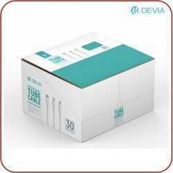 Кутия 30 броя Devia Tube cable за type C, micro USB и Lightning 10