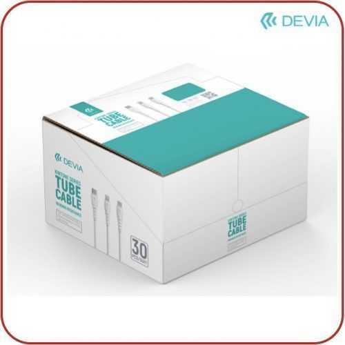 Кутия 30 броя Devia Tube cable за type C, micro USB и Lightning 6