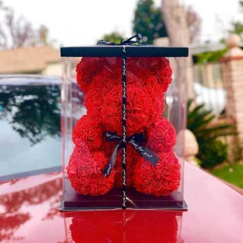 Мече от рози, Rose Bear в подаръчна кутия 3