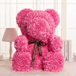 Мече от рози, Rose Bear в подаръчна кутия 8