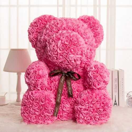 Мече от рози, Rose Bear в подаръчна кутия 5