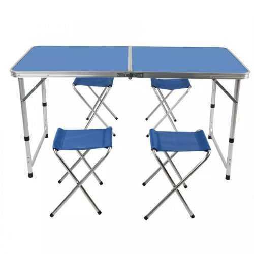 Сгъваема маса със столчета на едро