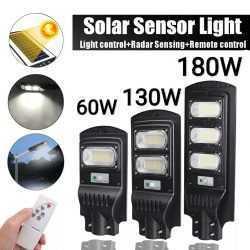 3 броя Външна Соларна LED лампа с датчик за движение и дистанционно 130W 5