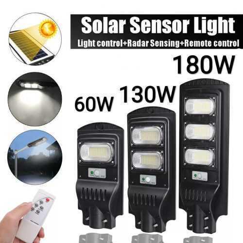 3 броя Външна Соларна LED лампа с датчик за движение и дистанционно 130W 4