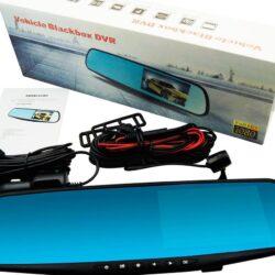 """Видeорегистратор в огледало за обратно виждане за автомобил, 4.3"""" Full HD дисплей, 1080P 170° предна камера, 1080P 150° задна широкоъгална камера, G-Sensor, нощно виждане 6"""