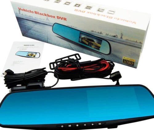 """Видeорегистратор в огледало за обратно виждане за автомобил, 4.3"""" Full HD дисплей, 1080P 170° предна камера, 1080P 150° задна широкоъгална камера, G-Sensor, нощно виждане 1"""