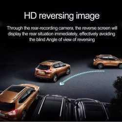 """Видeорегистратор в огледало за обратно виждане за автомобил, 4.3"""" Full HD дисплей, 1080P 170° предна камера, 1080P 150° задна широкоъгална камера, G-Sensor, нощно виждане 10"""