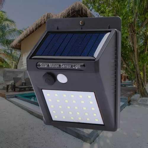 Водоустойчива соларна лампа 30 лед диода на едро 2