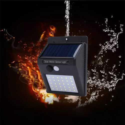 Водоустойчива соларна лампа 30 лед на едро