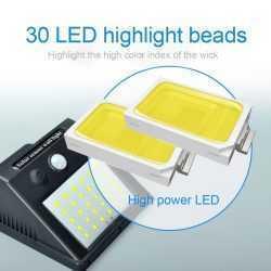 Водоустойчива соларна лампа 30 лед диода на едро 16