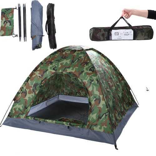 Камуфлажна четириместна палатка на едро 3