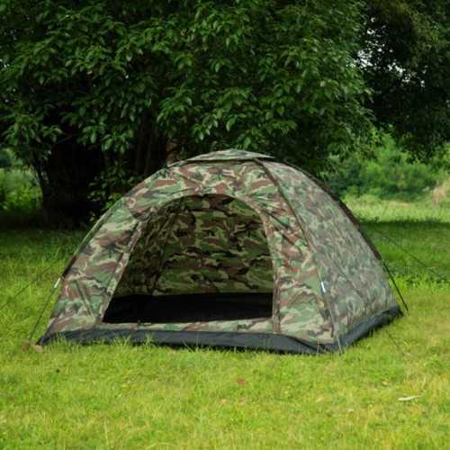Камуфлажна четириместна палатка на едро 4