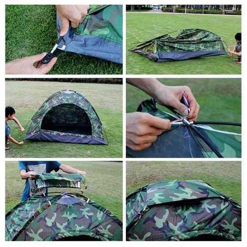 Камуфлажна четириместна палатка на едро 7