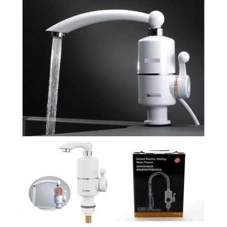 Проточен Смесител-Нагревател за вода за стенен монтаж или за плот 6