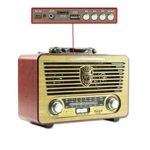 Ретро радио Meier 115BT на едро 4