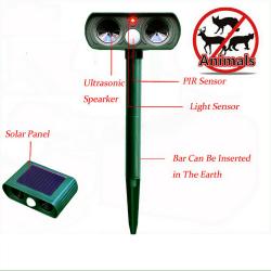 Ултразвуков соларен уред против всякакви животни 12