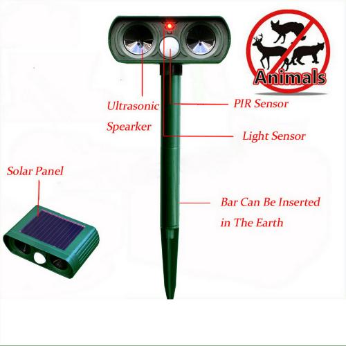 Ултразвуков соларен уред против всякакви животни 7