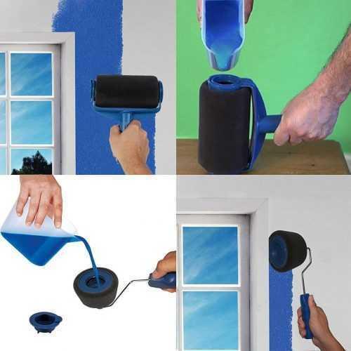 Комплект валяци за боядисване с резервоар и удължител на едро 4