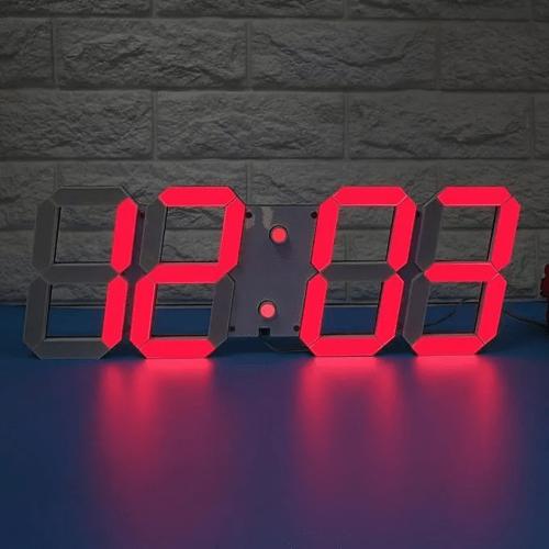 3D LED Часовник 9