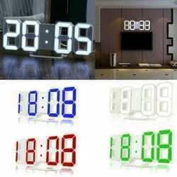 3D LED Часовник 19