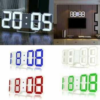 3D LED Часовник 10