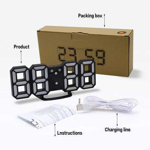 3D LED Часовник 12