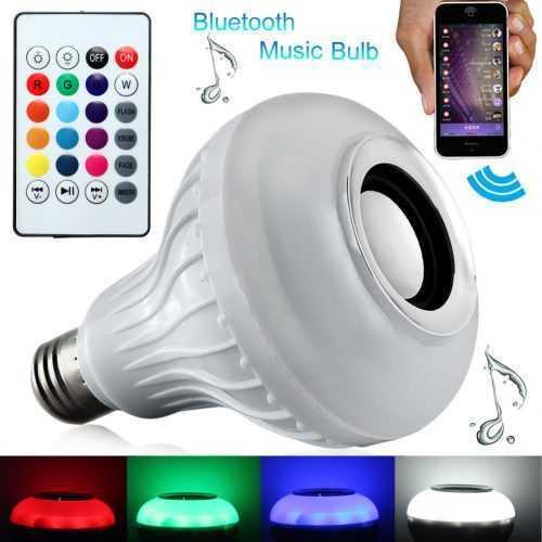 Безжична музикална лампа с цветомузика LED 3