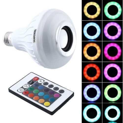 Безжична музикална лампа с цветомузика LED 5