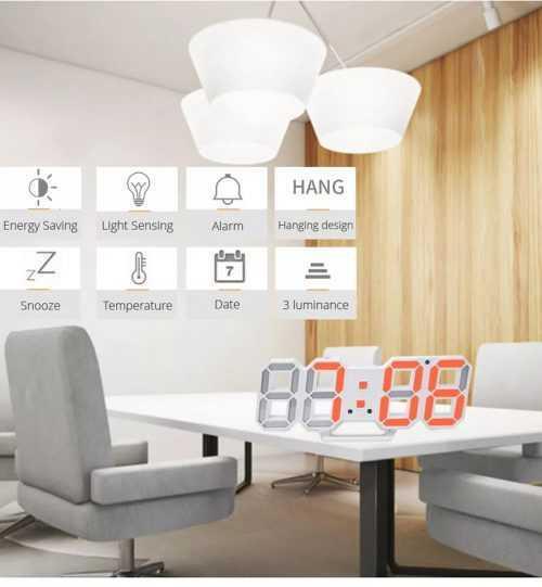 3D LED Часовник 5