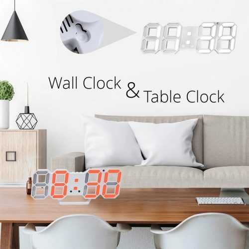 3D LED Часовник 7