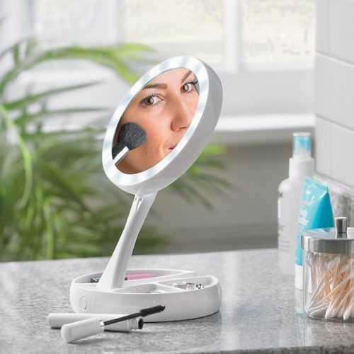 Сгъваемо LED огледало за гримиране на едро 3
