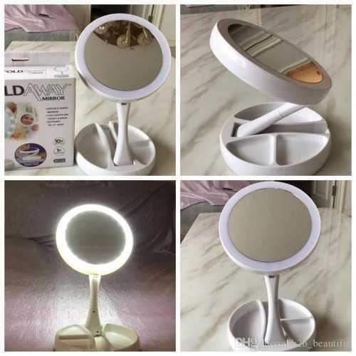 Сгъваемо LED огледало за гримиране на едро 5