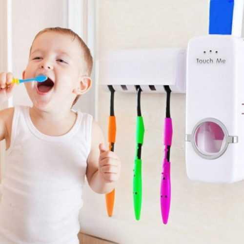 Диспенсър за паста за зъби и поставка за четки на едро и дребно 3