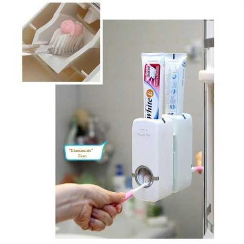 Диспенсър за паста за зъби и поставка за четки на едро и дребно 6