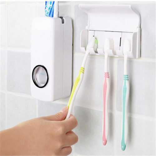 Диспенсър за паста за зъби и поставка за четки на едро и дребно 5