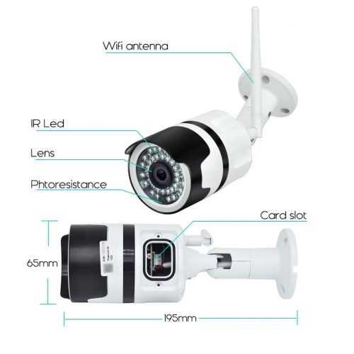 IP метална камера за външен монтаж на едро и дребно 4