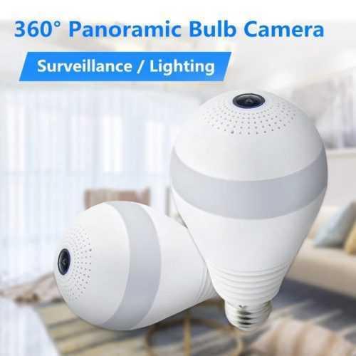 Панорамна WIFI камера LED крушка на едро и дребно 3