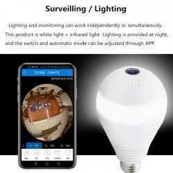 Панорамна WIFI камера LED крушка на едро и дребно 10