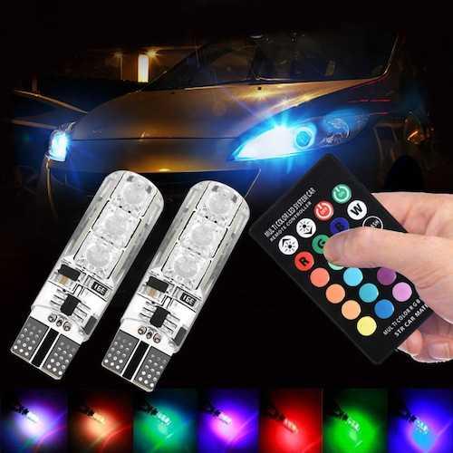 LED RGB крушки за габарити с дистанционно на едро и дребно 4