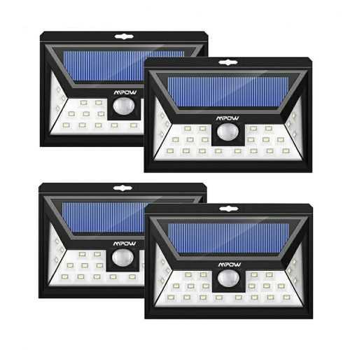 4 БРОЯ LED соларен прожектор със сензор на едро 3